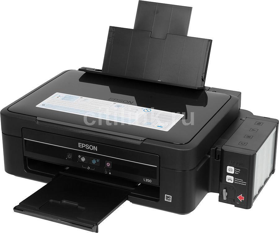 МФУ EPSON L350, A4, цветной, струйный, черный [c11cc26301]