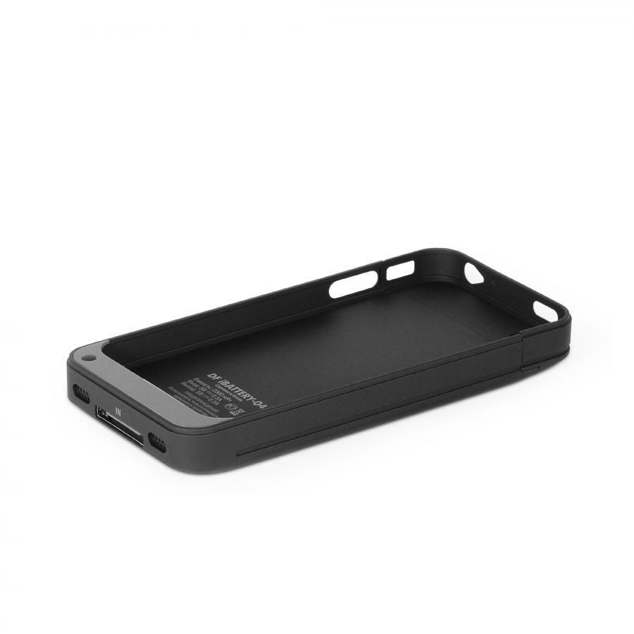 Чехол-аккумулятор DF iBattery-04, 2200 мАч, для Apple iPhone 4/4S, черный [ibattery-04 bk]