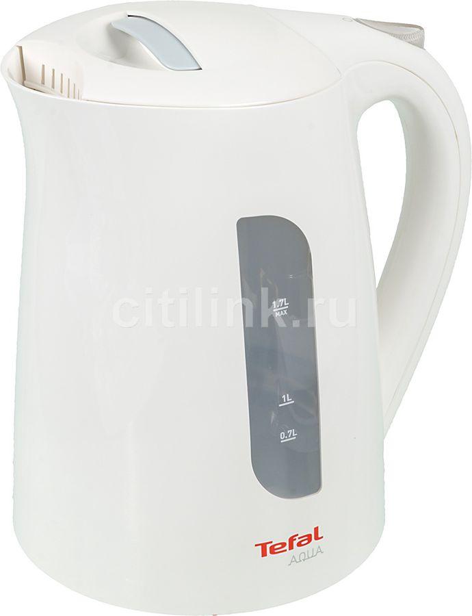 Чайник электрический TEFAL KO270130, 2400Вт, белый и серый