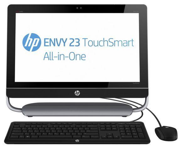 Моноблок HP ENVY 23-d220er, Intel Core i5 3330S, 8Гб, 1000Гб, nVIDIA GeForce GT630M - 2048 Мб, DVD-RW, Windows 8, черный и серый [e6q05ea]