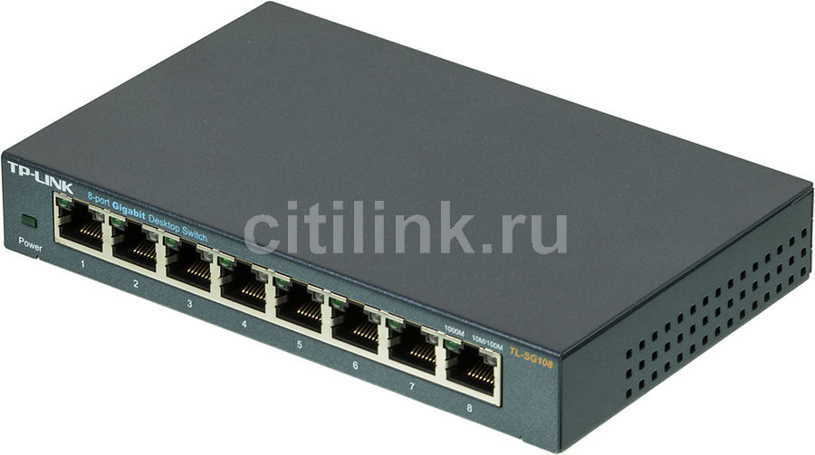Коммутатор TP-LINK TL-SG108 адаптер power over ethernet tp link tl poe10r