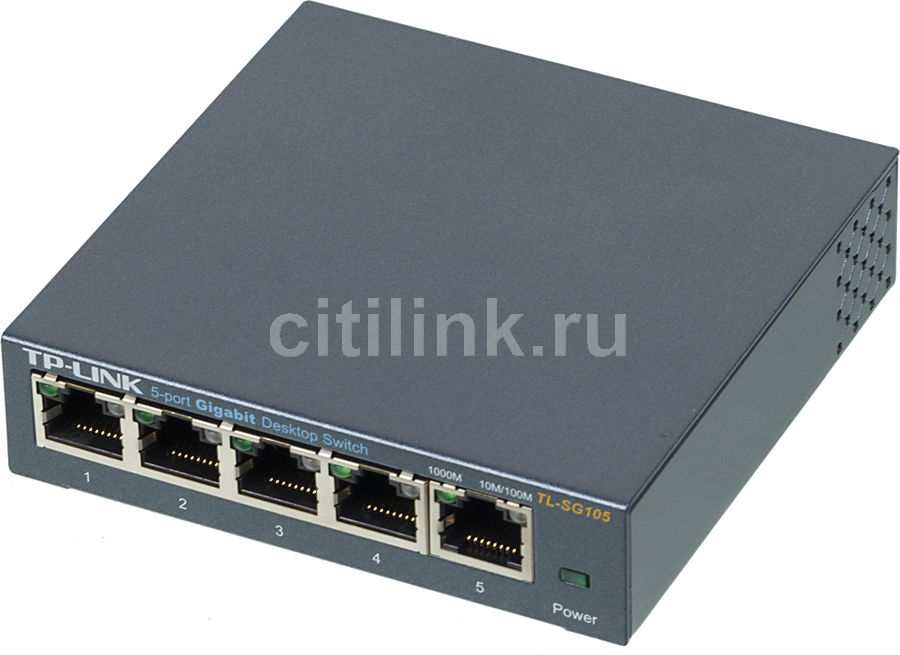 Коммутатор TP-LINK TL-SG105 адаптер power over ethernet tp link tl poe10r