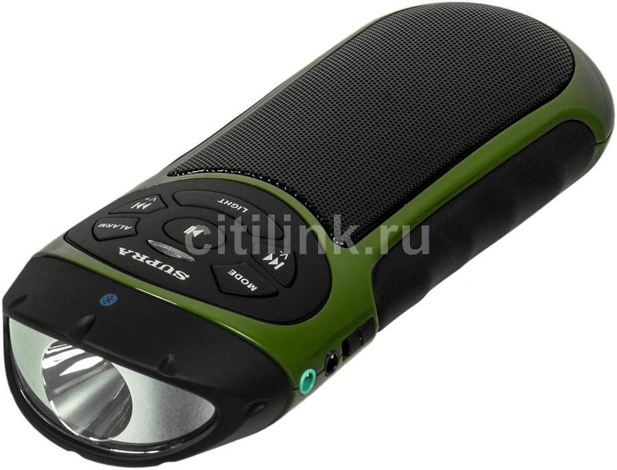 Аудиомагнитола SUPRA PAS-6277,  зеленый и черный