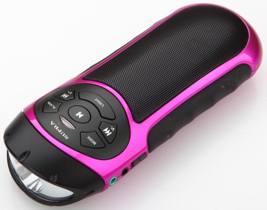 Аудиомагнитола SUPRA PAS-6277,  розовый и черный