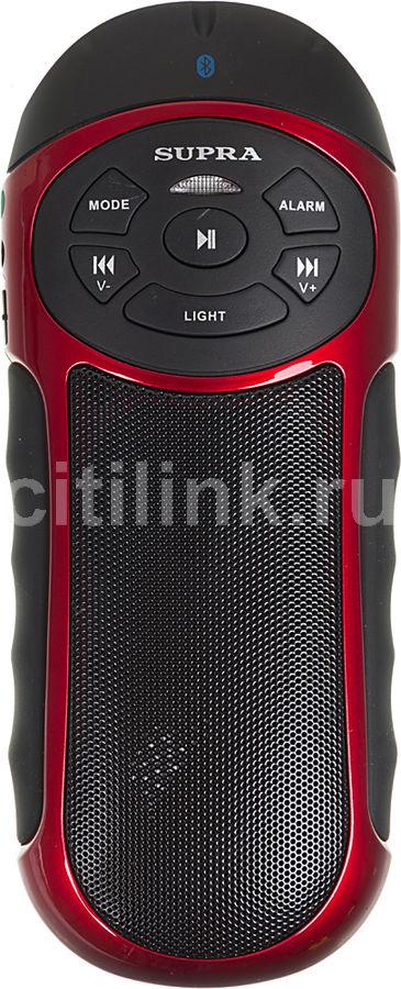Аудиомагнитола SUPRA PAS-6277,  красный и черный