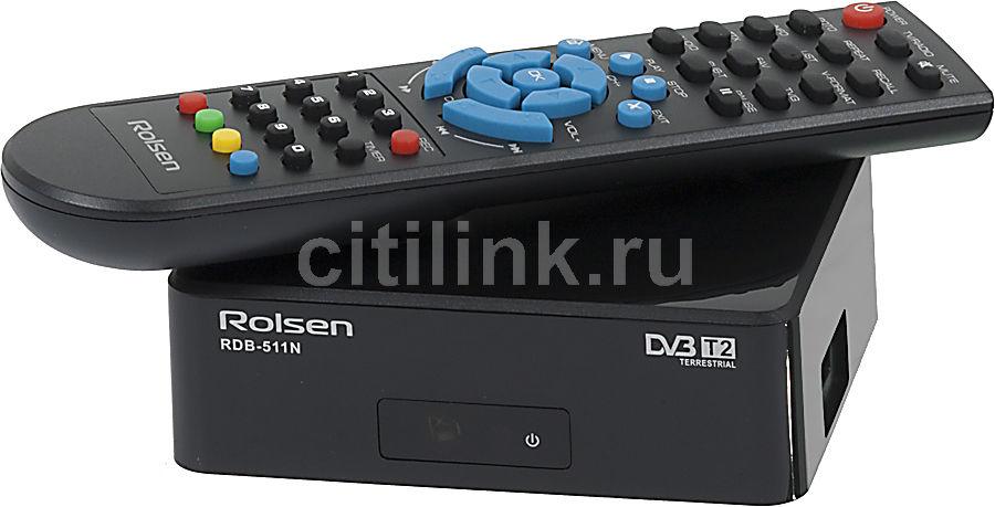 Ресивер DVB-T2 ROLSEN RDB-511N,  черный [1-rldb-rdb-511n]