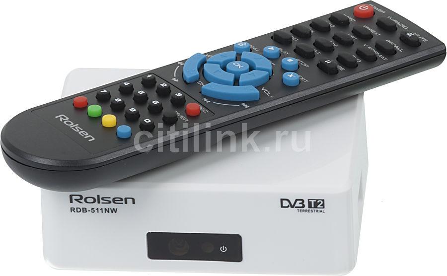 Ресивер DVB-T2 ROLSEN RDB-511N,  белый [1-rldb-rdb-511nw]