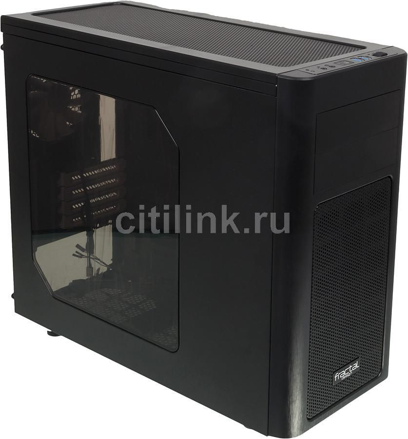 Корпус mATX FRACTAL DESIGN Arc Mini R2, Mini-Tower, без БП, черный корпус matx fractal design define mini c tg mini tower без бп черный