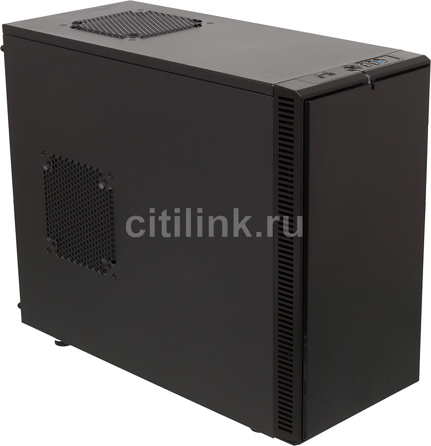 Корпус mATX FRACTAL DESIGN Define Mini, Mini-Tower, без БП, черный