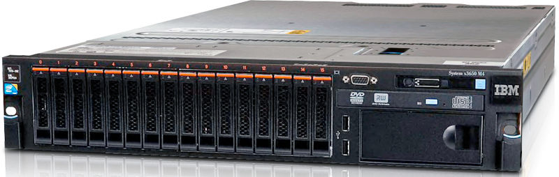 Сервер IBM ExpSell x3650M4 E5-2603/1x8GB/OB 2.5in SAS/SATA/M5110e/Multi/550W/Rack SP48Fix (7915K7G)
