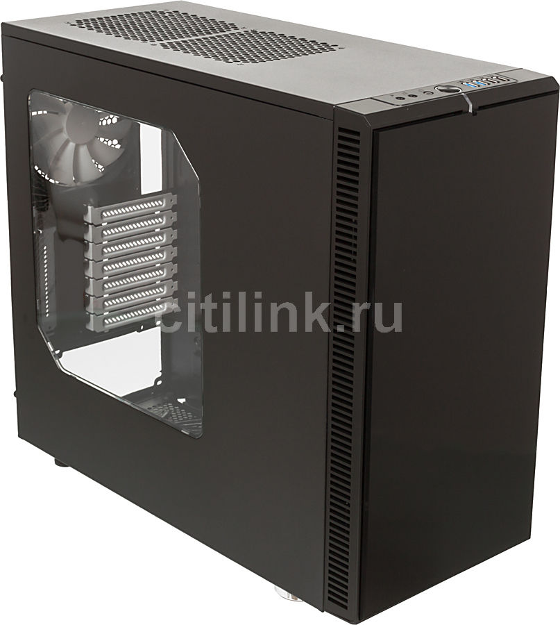 Корпус ATX FRACTAL DESIGN Define R4 Black Winwow, Midi-Tower, без БП,  черный