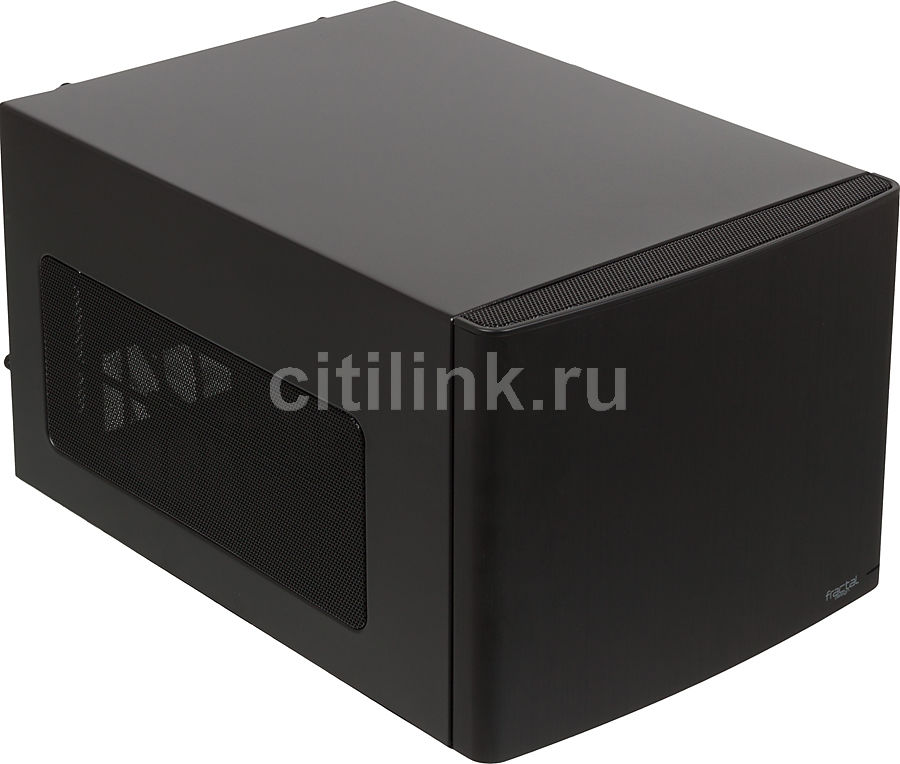 Корпус miniITX FRACTAL DESIGN Node 304, Micro-Tower, без БП,  черный
