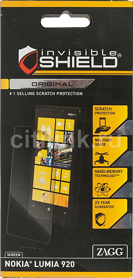 Защитная пленка ZAGG InvisibleSHIELD  для Nokia Lumia 920,  1 шт [nokpr920s]