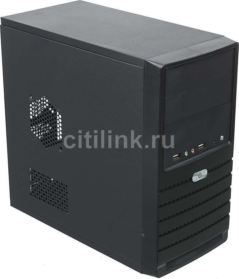 Корпус mATX EZCOOL ME-205B, Mini-Tower, без БП,  черный