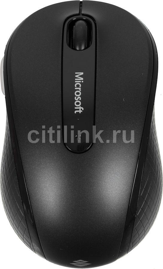 Мышь MICROSOFT 4000, оптическая, беспроводная, USB, черный [d5d-00133]