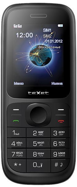 Мобильный телефон TEXET TM-D107  черный