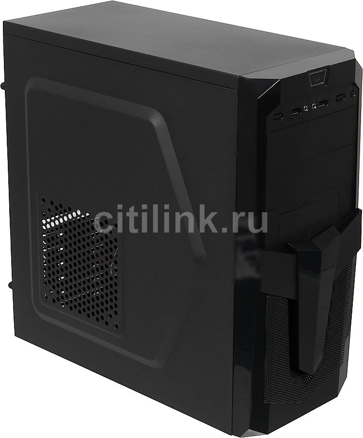 Корпус ATX ACCORD P-25B, Midi-Tower, без БП, черный