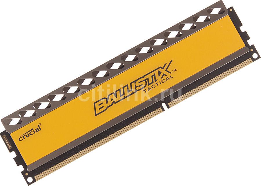 Модуль памяти CRUCIAL Ballistix Tactical BLT4G3D1608DT1TX0CEU DDR3 -  4Гб 1600, DIMM,  Ret