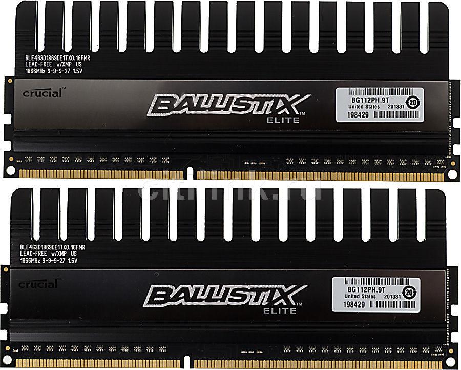 Модуль памяти CRUCIAL Ballistix Elite BLE2CP4G3D1869DE1TX0CEU DDR3 -  2x 4Гб 1866, DIMM,  Ret