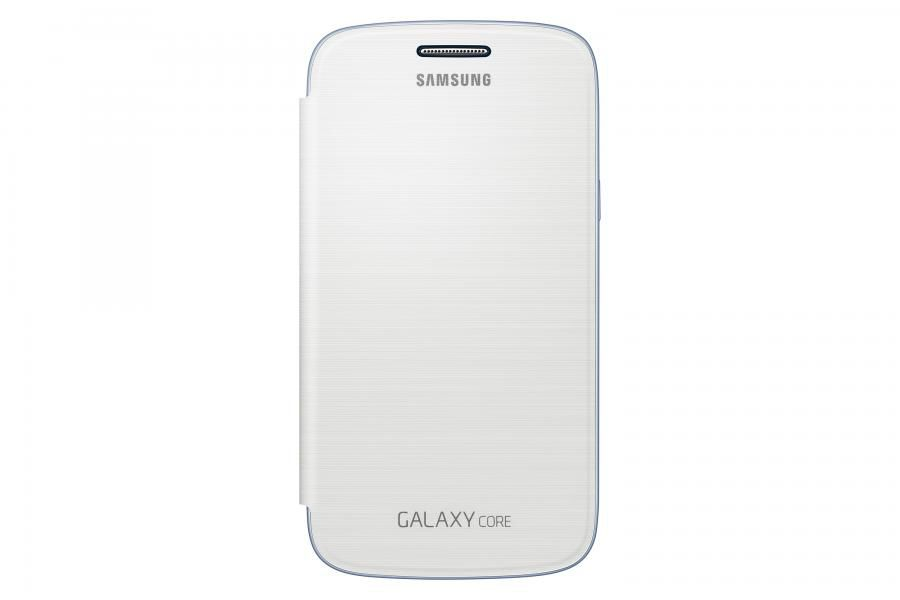 Чехол (флип-кейс) SAMSUNG EF-FI826BW, для Samsung Galaxy Core, белый [ef-fi826bwegru]