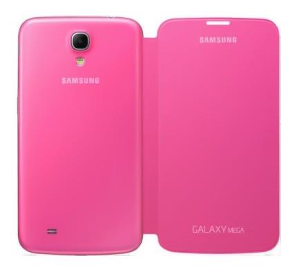 Чехол (клип-кейс) SAMSUNG EF-PI915BPEGRU, для Samsung Galaxy Mega 5.8, розовый
