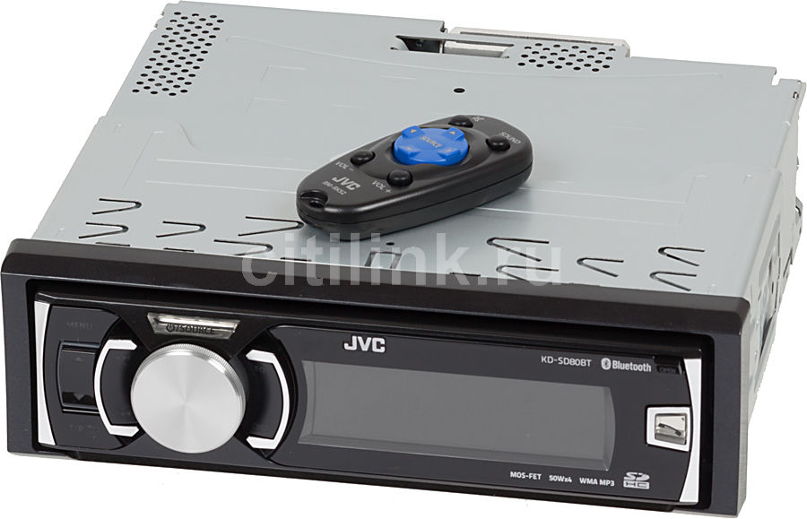 Автомагнитола JVC KD-SD80BTEY,  USB,  SDHC