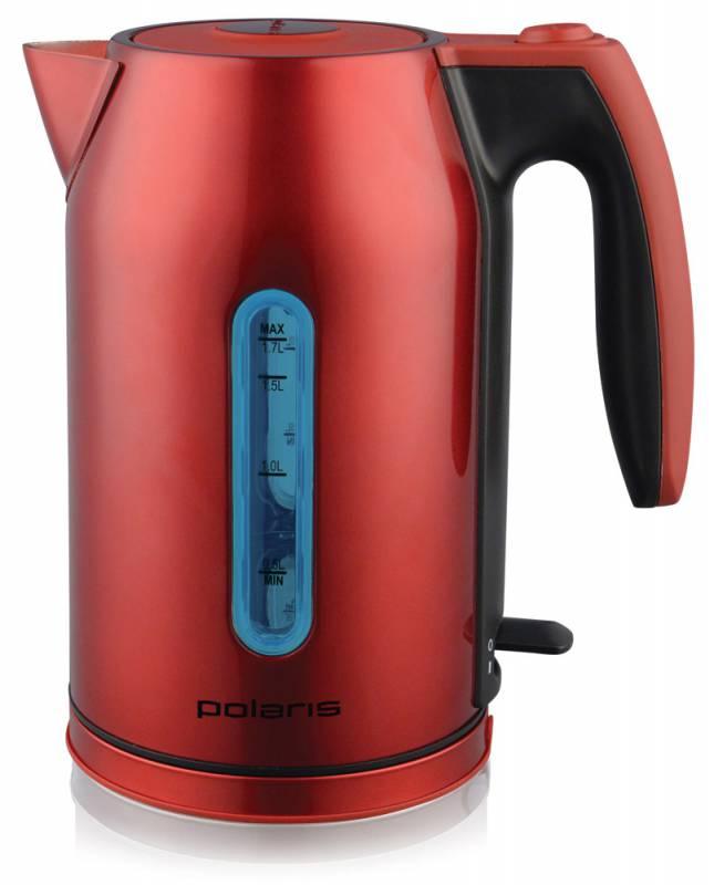 Чайник электрический POLARIS PWK 1721CAL, 2400Вт, красный и черный