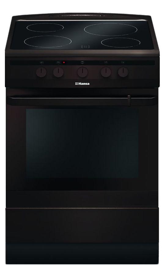 Электрическая плита HANSA FCCB63000,  стеклокерамика,  коричневый