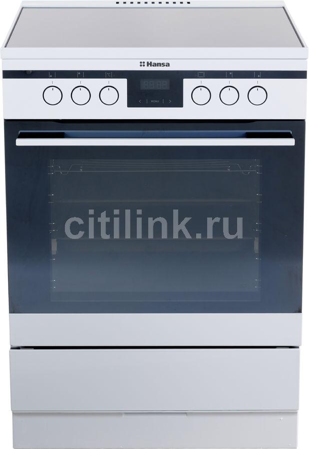 Электрическая плита HANSA FCCW68225,  стеклокерамика,  белый