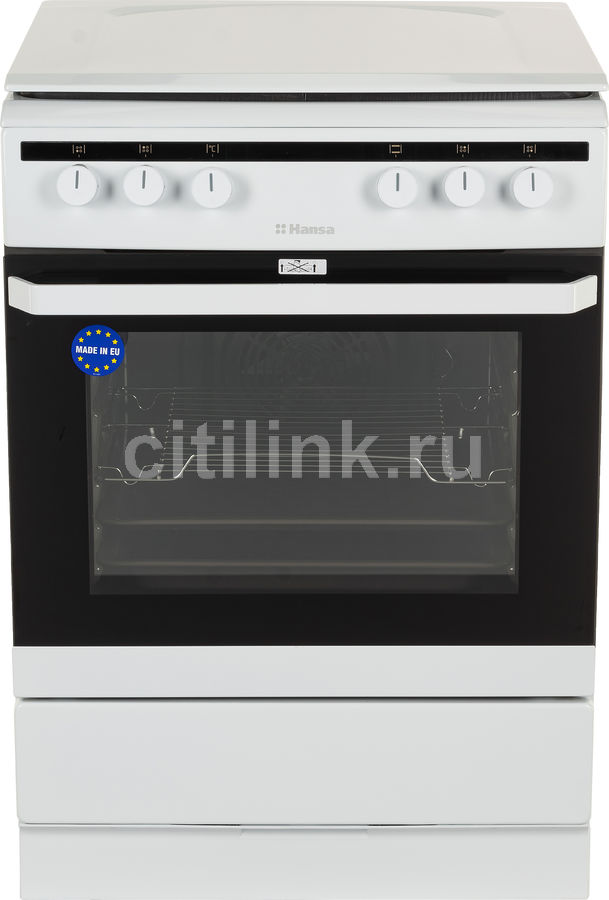 Газовая плита HANSA FCMW68020,  электрическая духовка,  белый