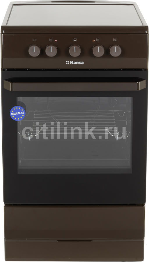Электрическая плита HANSA FCCB54000,  стеклокерамика,  коричневый