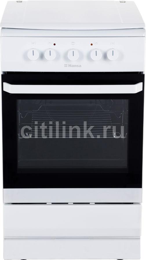 Электрическая плита HANSA FCEW53001,  эмаль,  белый