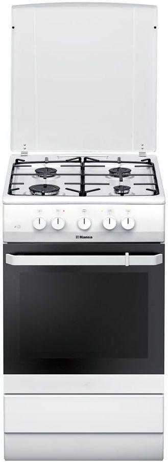 Газовая плита HANSA FCMW53000,  электрическая духовка,  белый