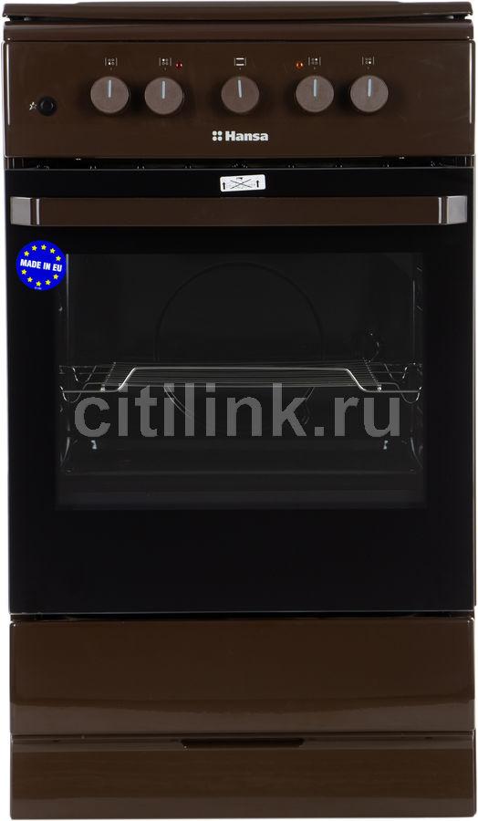 Газовая плита HANSA FCMB53020,  электрическая духовка,  коричневый