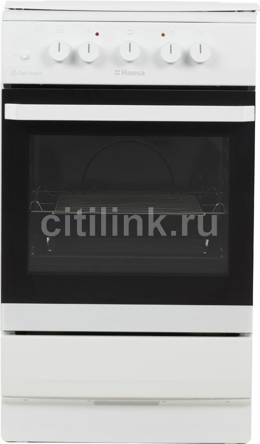 Газовая плита HANSA FCMW53010,  электрическая духовка,  белый