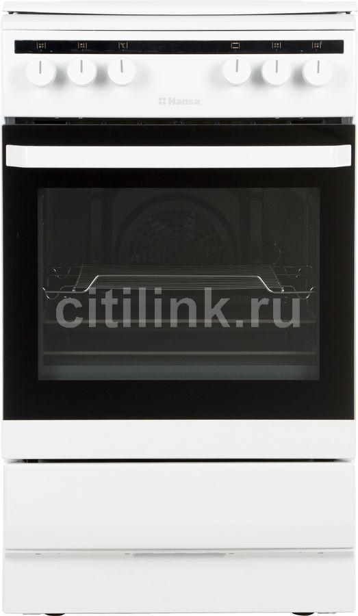 Газовая плита HANSA FCMW58020,  электрическая духовка,  белый