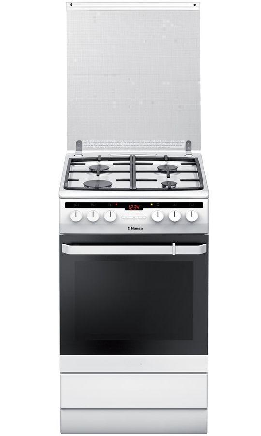 Газовая плита HANSA FCMW58220,  электрическая духовка,  белый