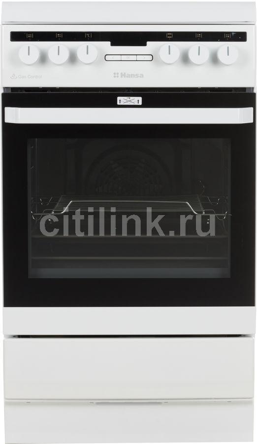 Газовая плита HANSA FCMW58221,  электрическая духовка,  белый
