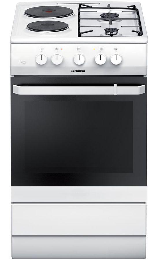 Газовая плита HANSA FCMW53050,  электрическая духовка,  белый