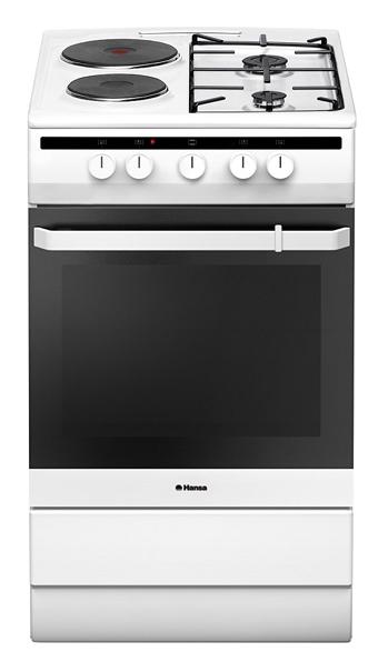 Газовая плита HANSA FCMW53051,  электрическая духовка,  белый