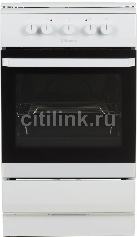 Газовая плита HANSA FCMW53040,  электрическая духовка,  белый