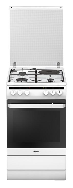 Газовая плита HANSA FCMW54040,  электрическая духовка,  белый
