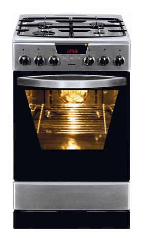 Газовая плита HANSA FCMX59226,  электрическая духовка,  серебристый