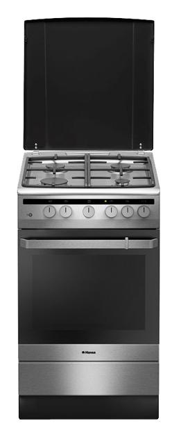 Газовая плита HANSA FCGX53021,  газовая духовка,  серебристый