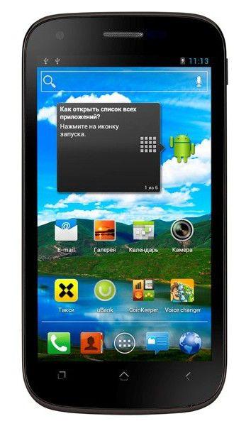 Смартфон Fly iQ443 черный моноблок 3G 2Sim 4.5