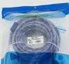 Кабель аудио-видео  HDMI (m)  -  HDMI (m) ,  ver 1.4, 10м, GOLD ф/фильтр,  синий/белый вид 2