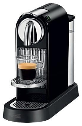 Капсульная кофеварка DELONGHI Nespresso Citiz EN166.B, 1260Вт, цвет: черный [en 166.b]