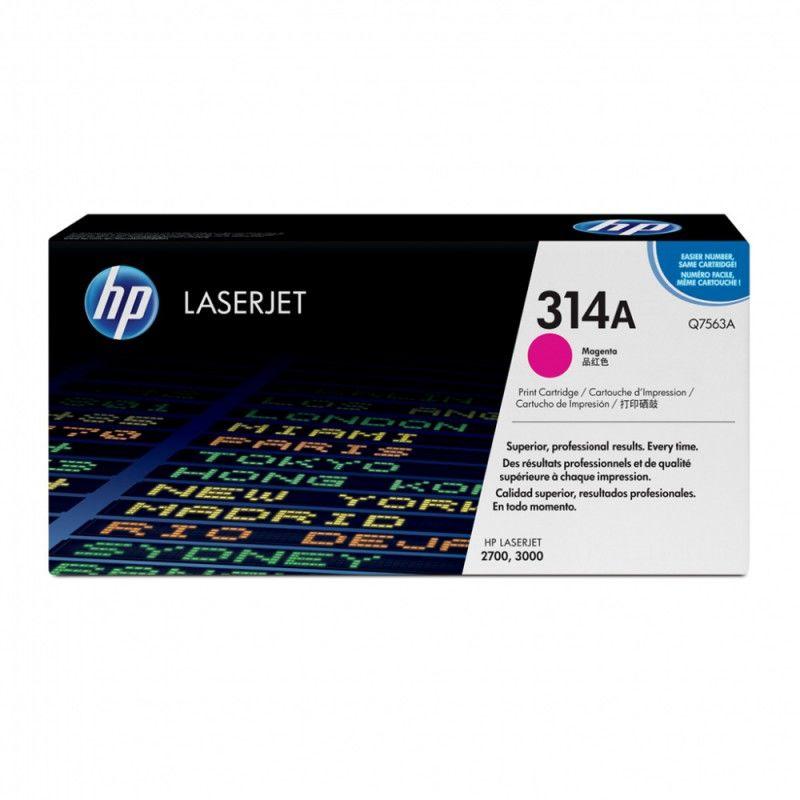 Картридж HP Q7563A пурпурный
