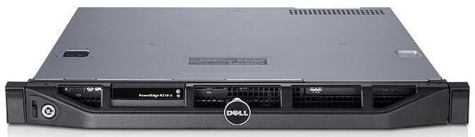 Сервер Dell PE R210II G2120/4Gb 2RUD 1.6/ SATA 500Gb 7.2K 3.5