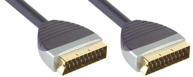 Кабель аудио-видео BANDRIDGE SVL7391,  SCART (m)  -  SCART (m) ,  1м, GOLD